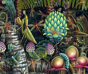 """Image of MICROCOSMIC GARDEN ~ 35 X 23"""" Signed & Numbered Limited Edition of 50"""
