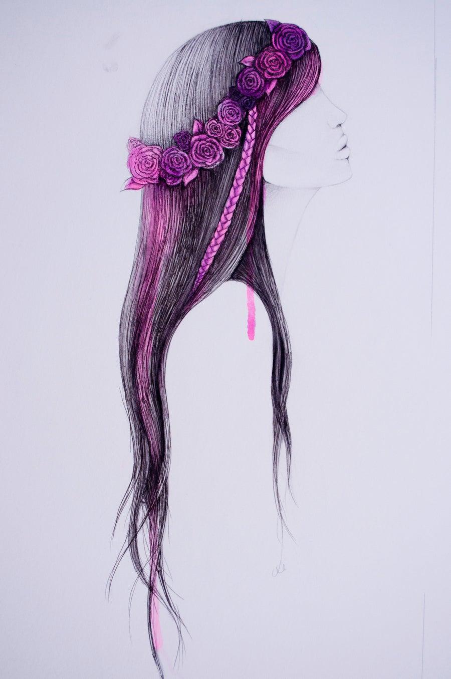 Image of Watercolour Trio - Tribal Girls