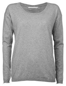 Image of Yaya grey Button Back Knit