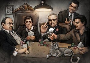 Image of Parody Poker – Gangsters - 11x17