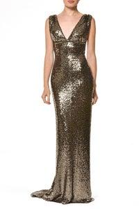 Image of Gold embellished dress