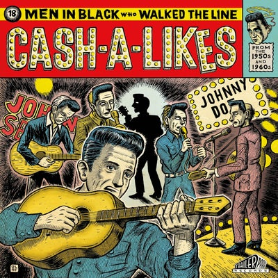 Image of CASH-A-LIKES 18 Men In Black Who Walked The Line CD