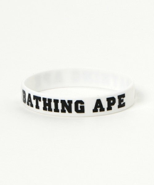 Image of A Bathing Ape - Rubber Bracelet (White/Black)