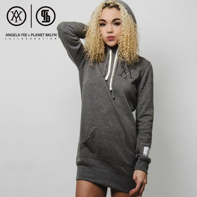 Heart Warmer Hoody Dress-Grey(PXA16F-03) - planet brooklyn academy