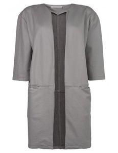 Image of Yaya Grey Coated Sweat Jacket