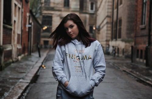 Image of Worldwide Camo Hoodie - Grey