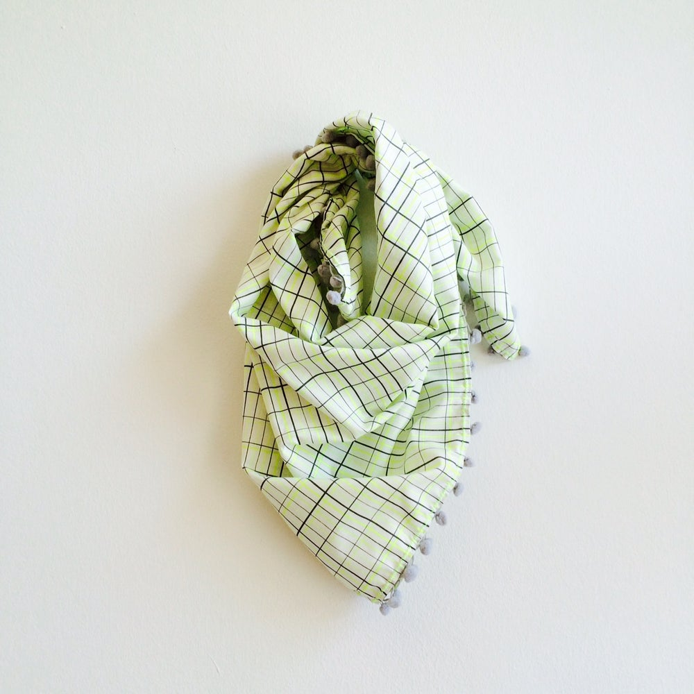Image of PomPom Scarf-neon check