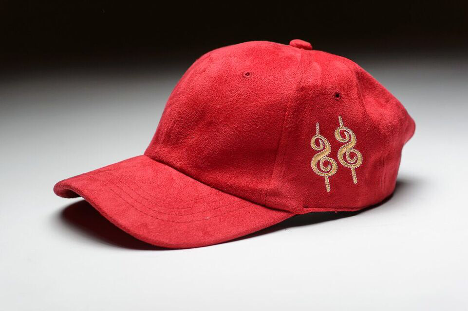 Image of OLD MONEY SUEDE CAP - Brick Red