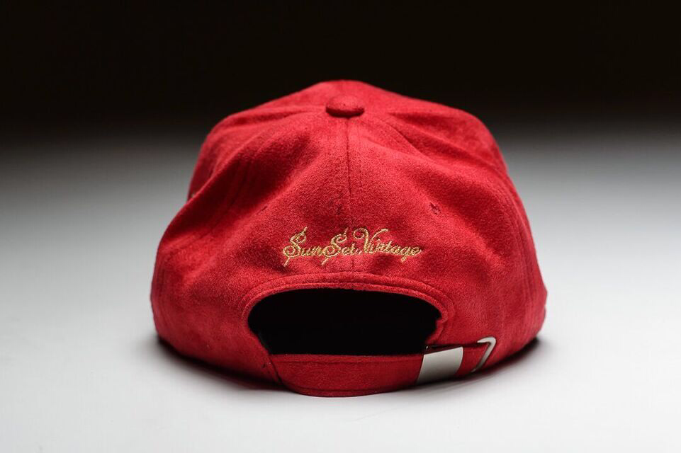 Image of OLD MONEY SUEDE CAP - Brick Red