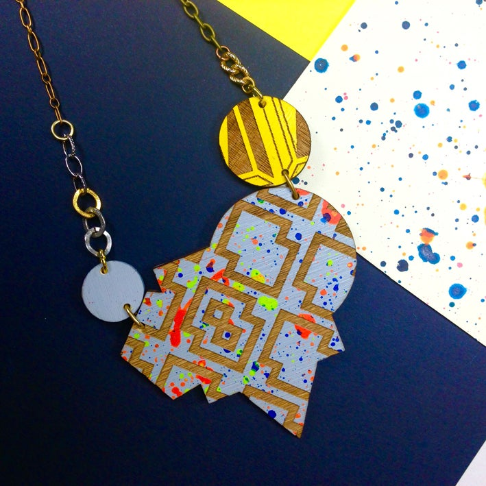 Image of Izzie segment statement necklace