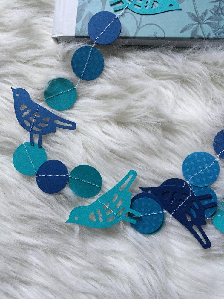 Image of Guirlande oiseau Bleu