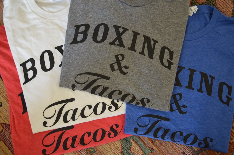 Image of Men's Boxing and Tacos Tees (4 colors)
