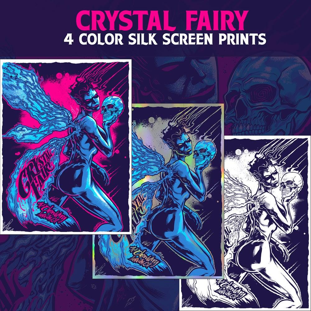 Image of Crystal Fairy Santa Ana CA Gig Poster 2017