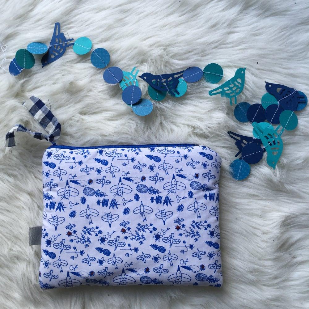 Image of Pochette oiseaux  blue