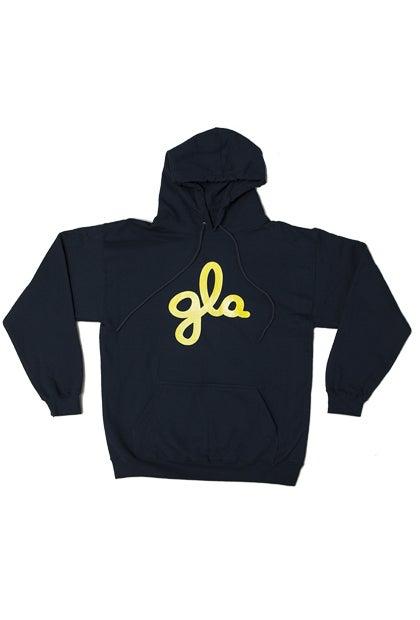Image of gla Navy Hooded Sweatshirt. #521