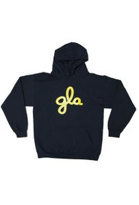 Image of gla Navy Hooded Sweatshirt. #521