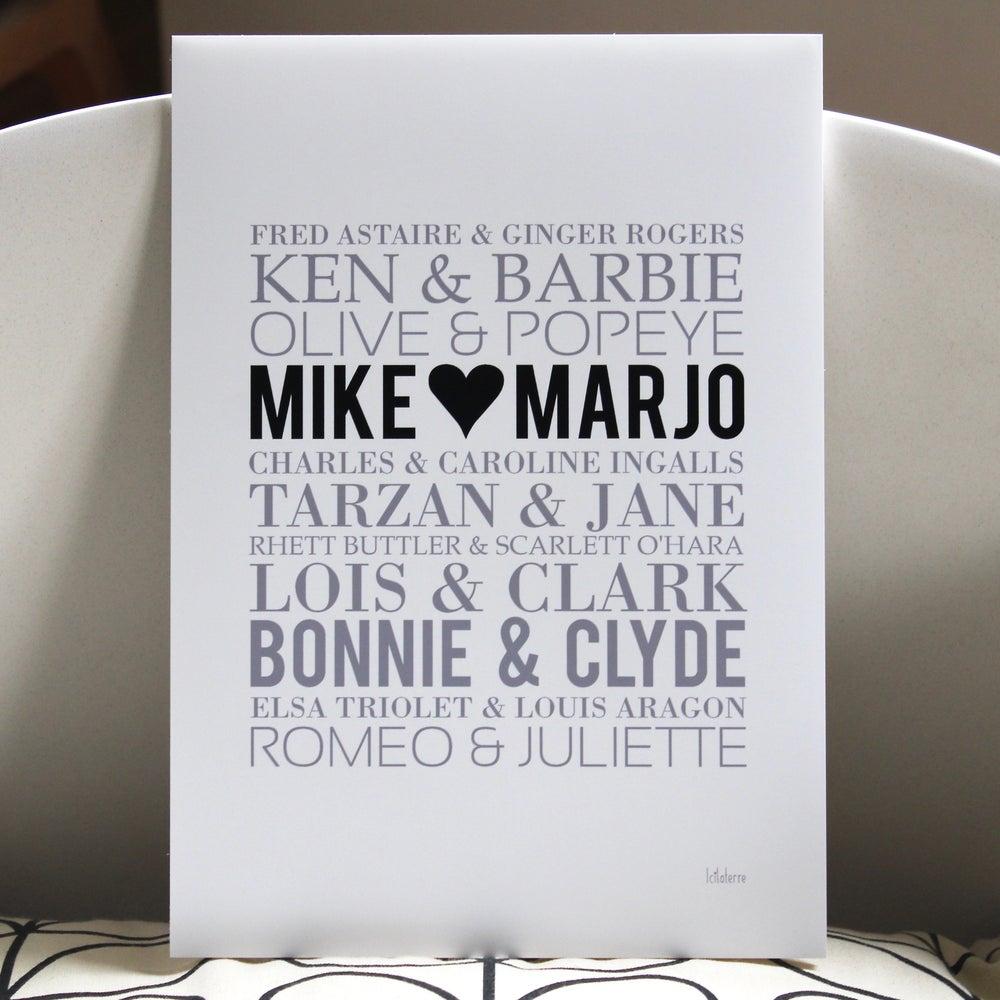Image of Affiche Couples Mythiques