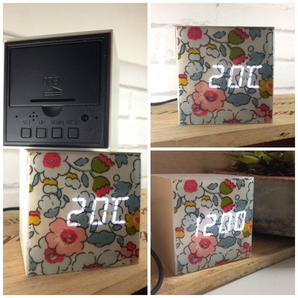 Image of Horloge - Réveil Digital Led en bois #9