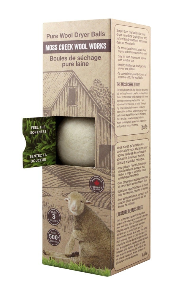 Image of 2 Barn Boxes of 3 Wool Dryer Balls (MC1000)