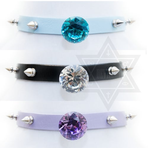 Image of diamond girl choker