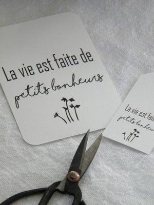 Image of Etiquette cartonnée La vie est faite ... (ETIKLVPB2)