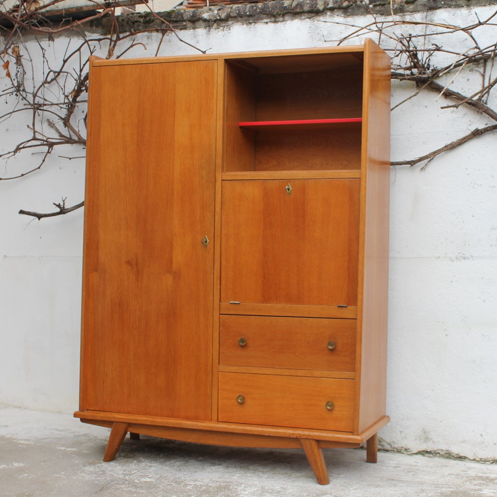 Meuble secr taire vintage fibresendeco vannerie for Meuble secretaire
