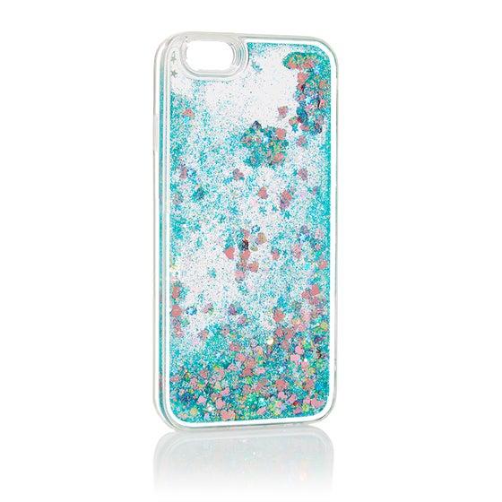 Image of Liquid Glitter iPhone 6 Case Blue