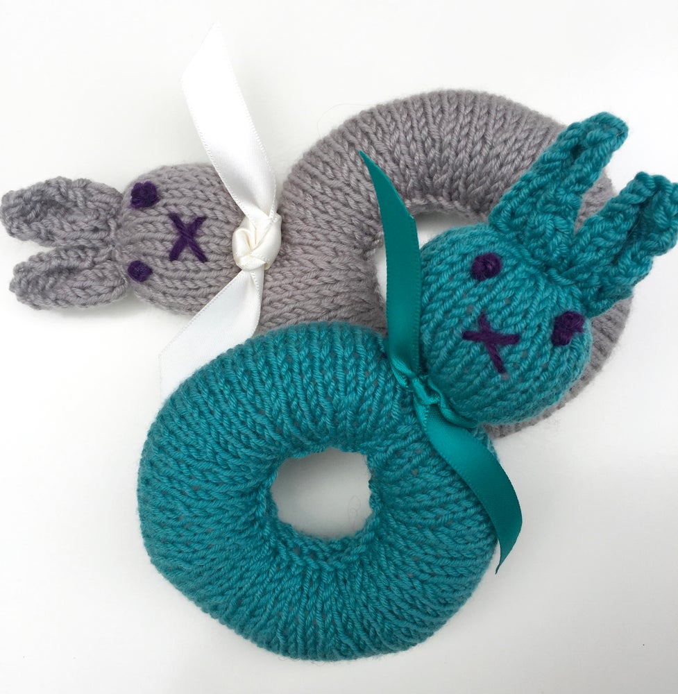 Image of Knitted Bunny Rattles