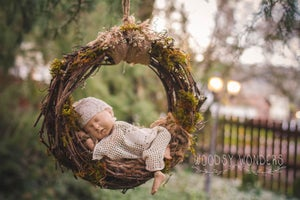 Image of PRE-ORDER! Hand Harvested GrapeVine & Organic Moss, Woodsy Newborn Hammock/Dream Catcher