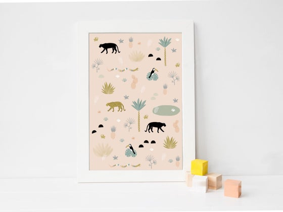 Image of Affiche Jungle A3 SOLDE -30%