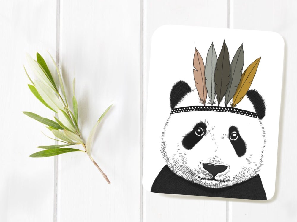 Image of Affiche Panda Indien A4