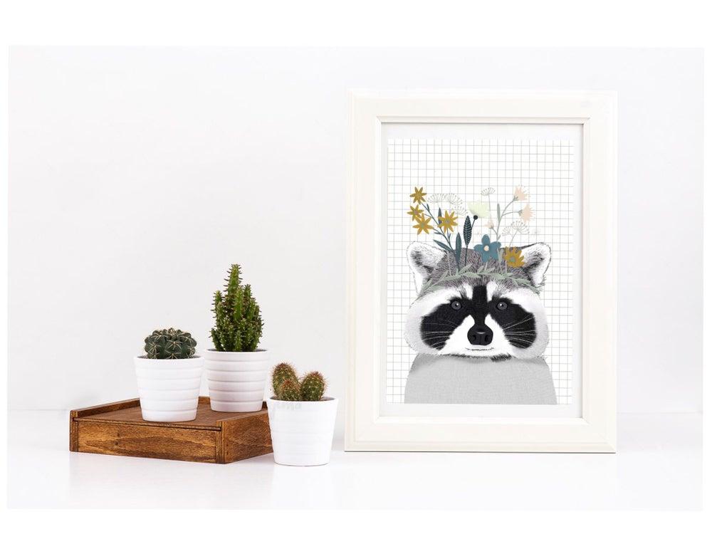 Image of Affiche raton laveur A3