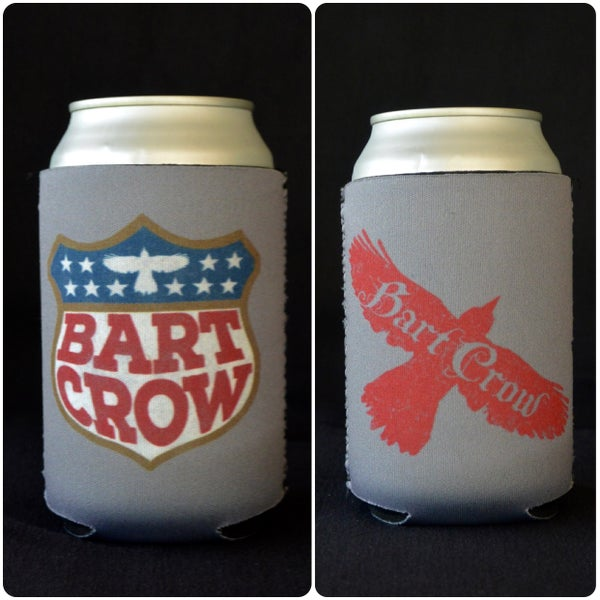 Image of Silver shield and logo koozie