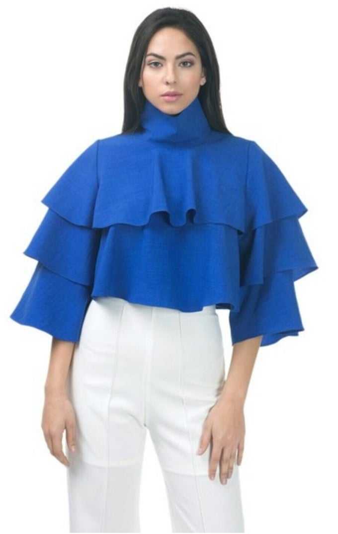Image of Layered bell sleeve shirt