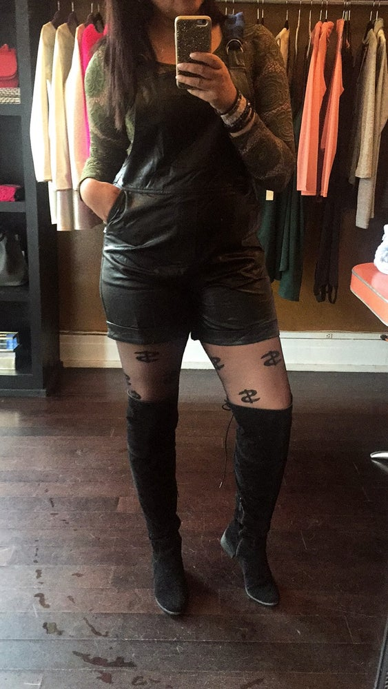 Image of Leather Overalls
