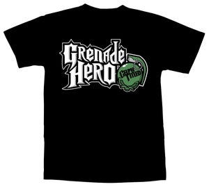 Image of Celph Titled Grenade Hero T-Shirt - Black Tee