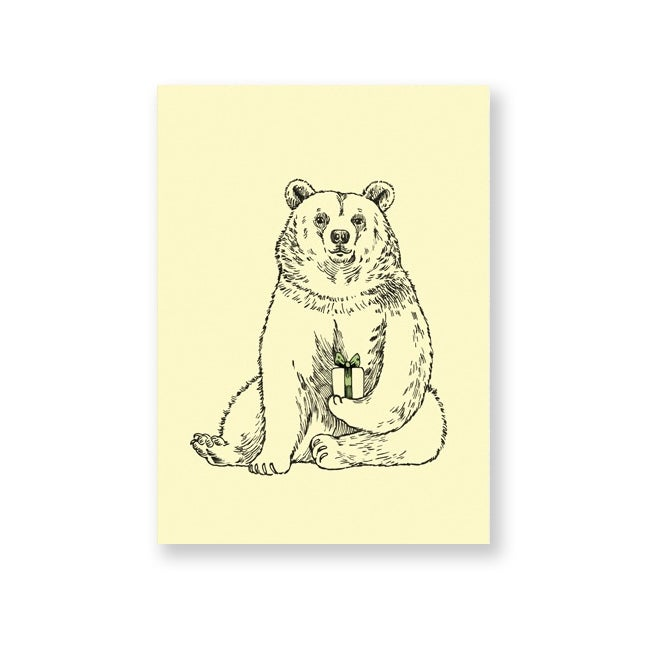Image of Carte postale Ours avec enveloppe