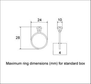Image of Slim round ring box - engagement ring box - flat box for proposal - original Woodstorming design