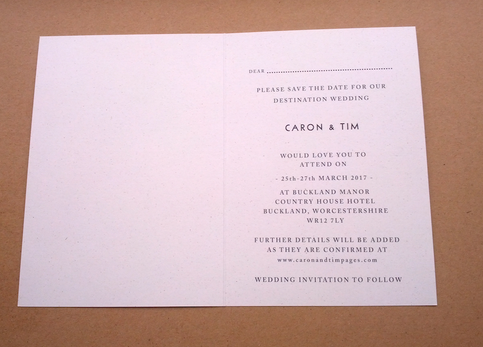 Image of 50 Save the Date Cards A6 size - 'Caron' - Digitally Printed