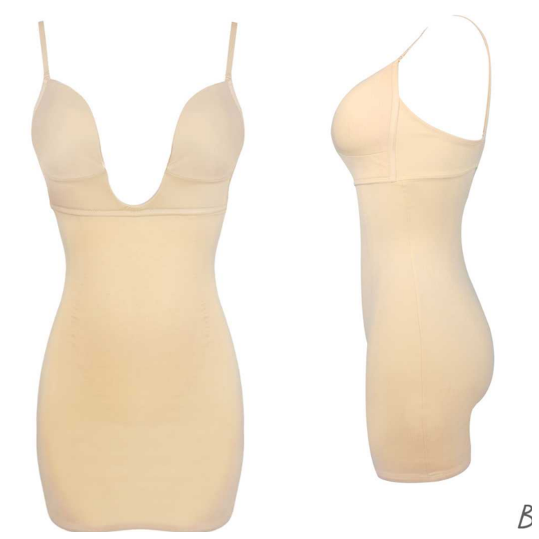 Image of Cq deep cut firm undergarment( dress tan)