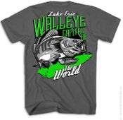 Image of Lake Erie Walleye Capitol of The World T-Shirt