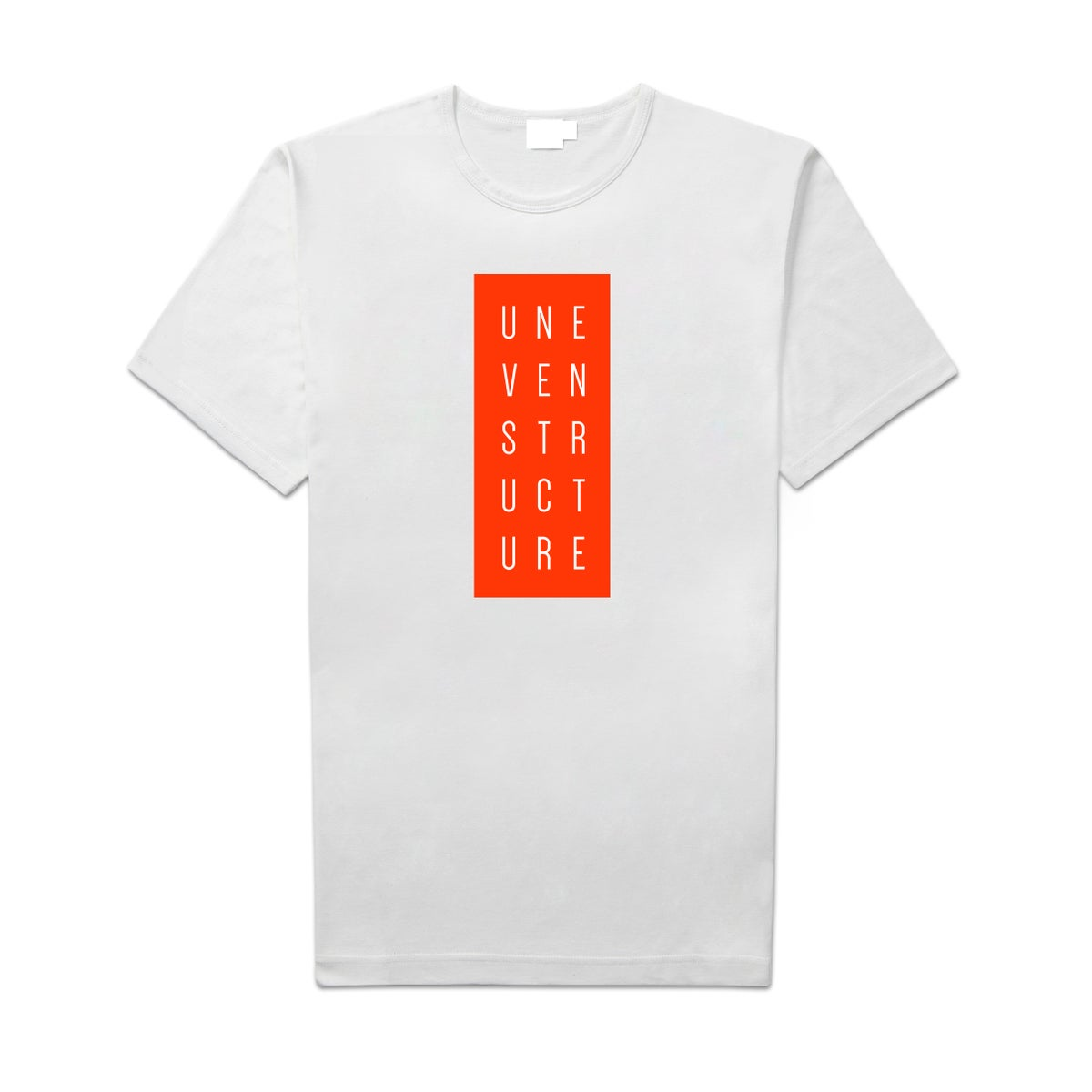 """Image of Uneven Structure """"Logo"""" Shirt"""