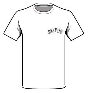 "Image of White ""Sea Circus""  Logo T'Shirt"