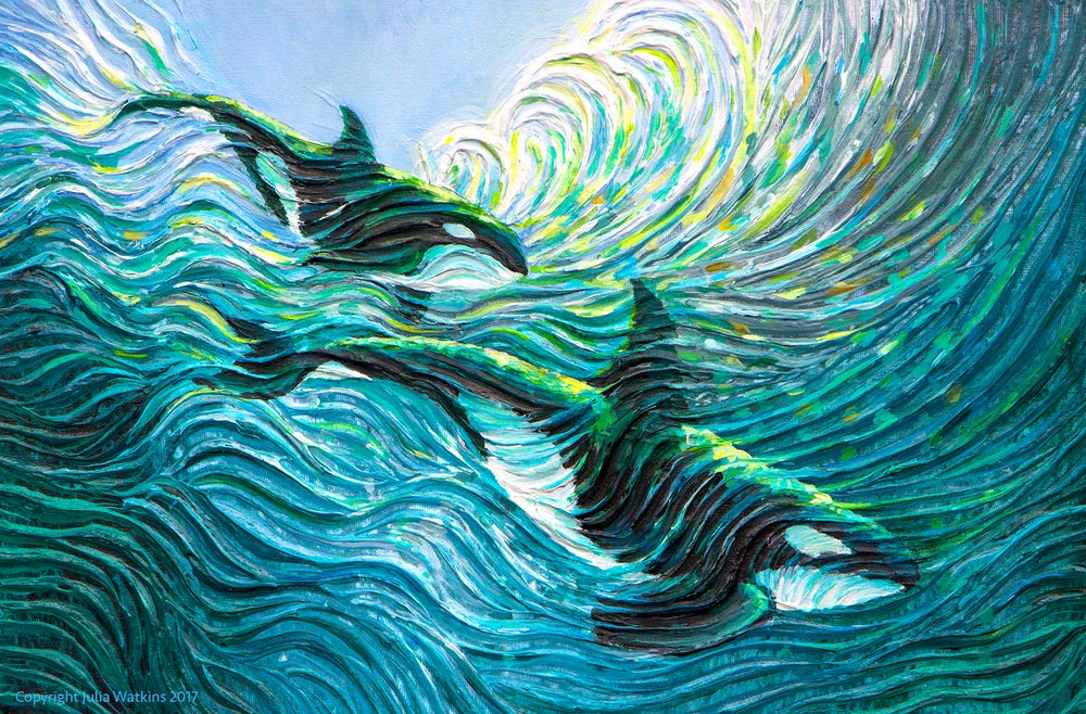 Image of Orca Healing Energy Painting - Giclee Print