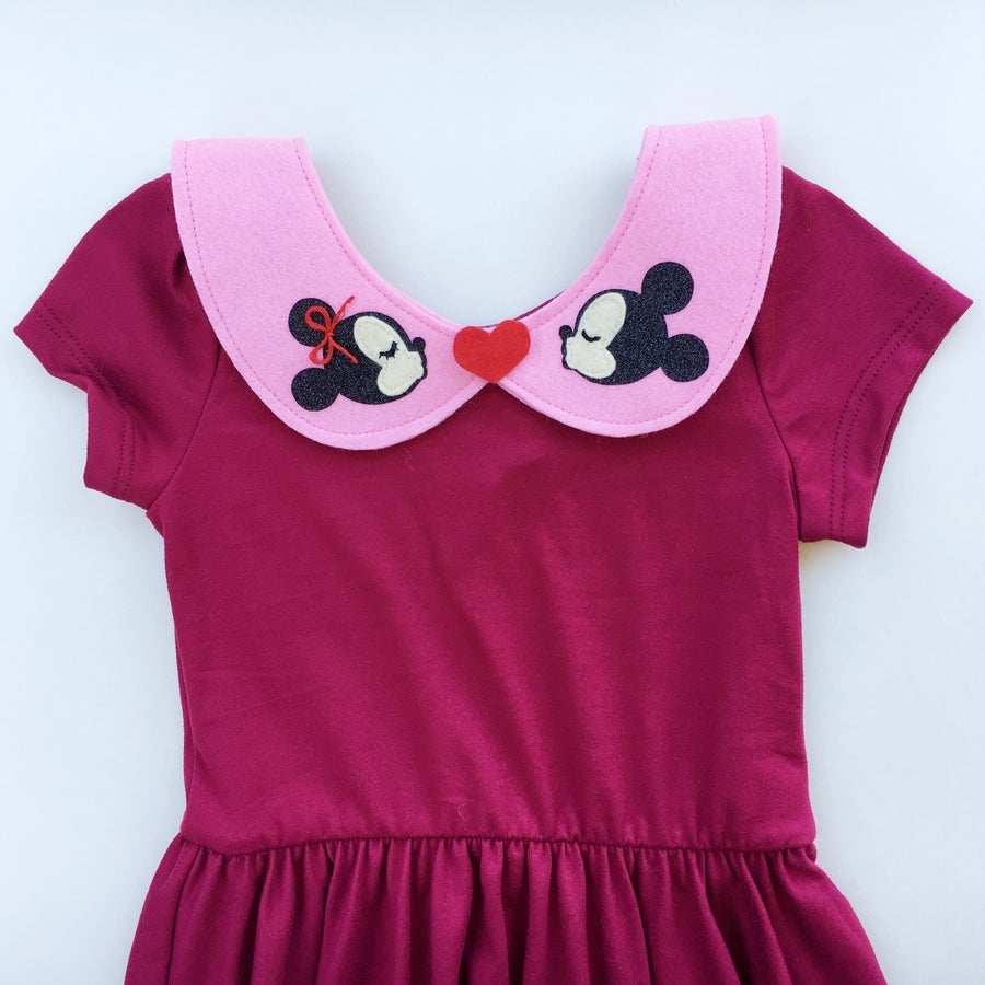 Image of Mickey & Minnie Collar - Pink