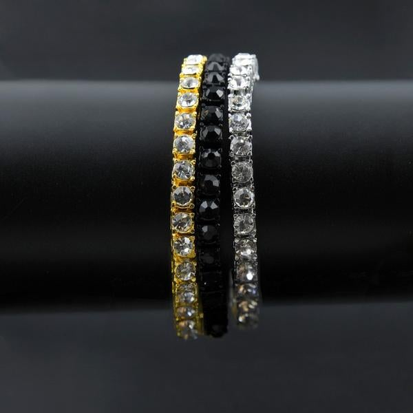 Image of Single Row Silver CZ Bracelet