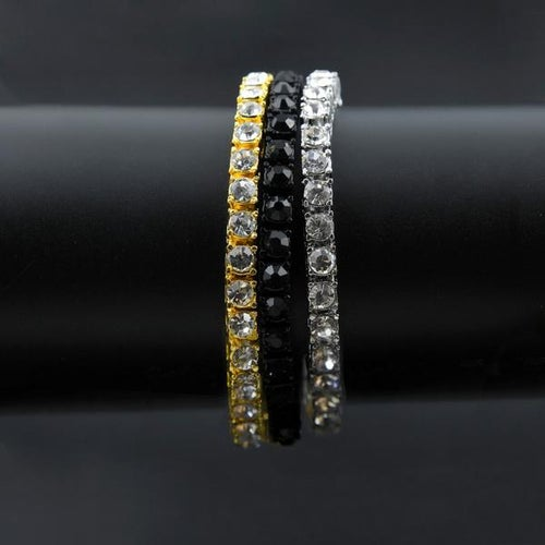 Image of Single Row Silver CZ Bracelet