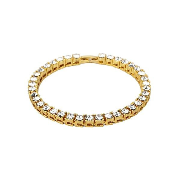 Image of Single Row Gold CZ Bracelet