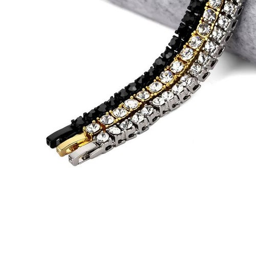 Image of Single Row Gold CZ Bracelet
