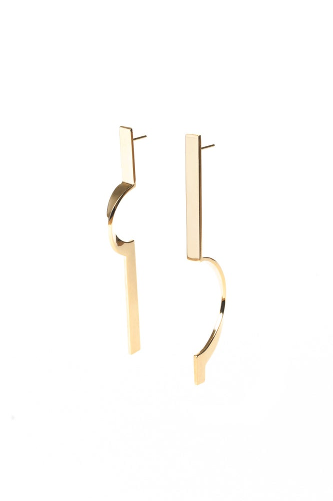 Image of ASYMMETRIC EARRINGS _ vermeil